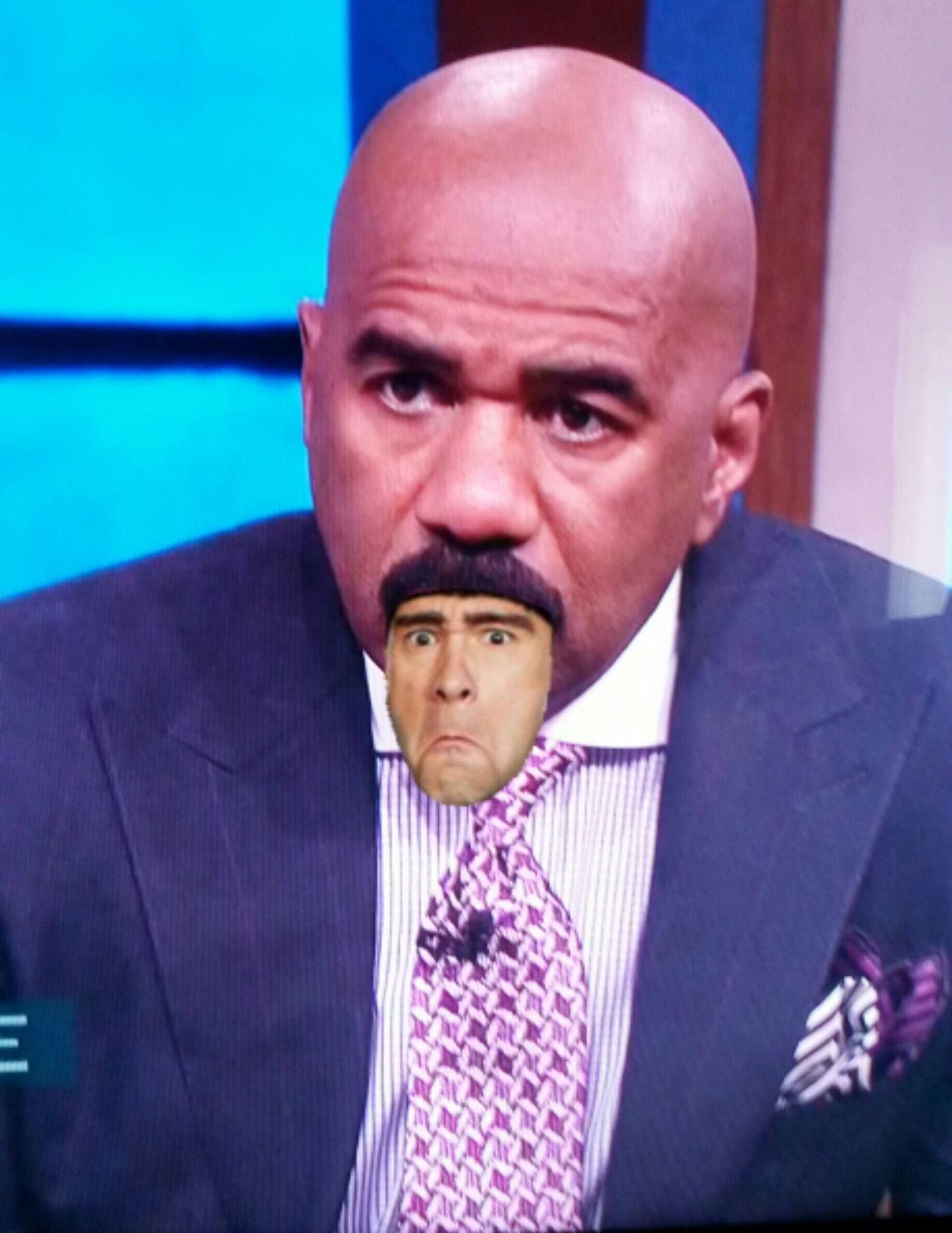 Steve Harvey No Mustache : steve, harvey, mustache, Steve, Harvey's, Mustache, #familyfued, #threestooges, #awesome, Laugh,, Harvey,, Family