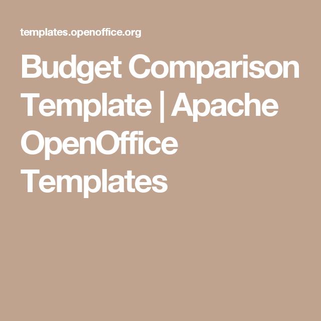 budget comparison template