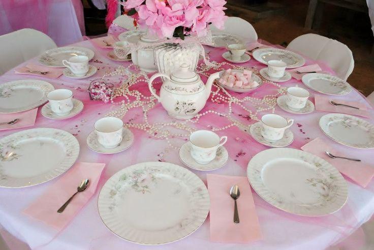 tea party table decoration | Eventos | Pinterest | Tea party table ...