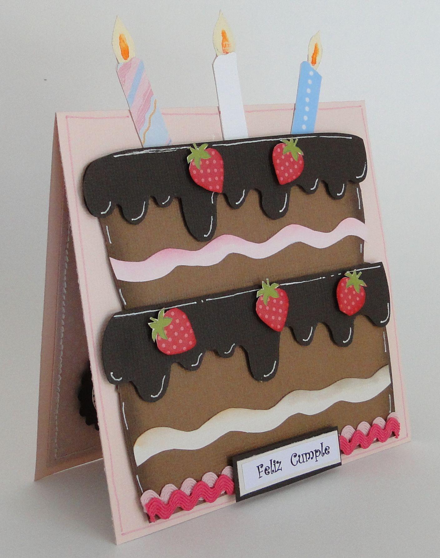 Открытки своими руками с тортом