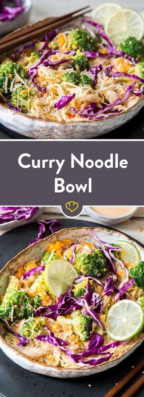 Cremige Curry-Noodle-Bowl Bangkok Style