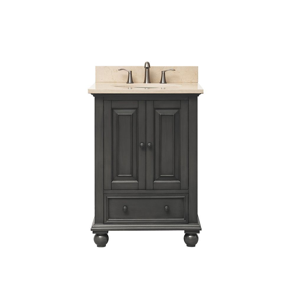Thompson 25 Inch Vanity Combo In Charcoal Glaze Finish With Galala