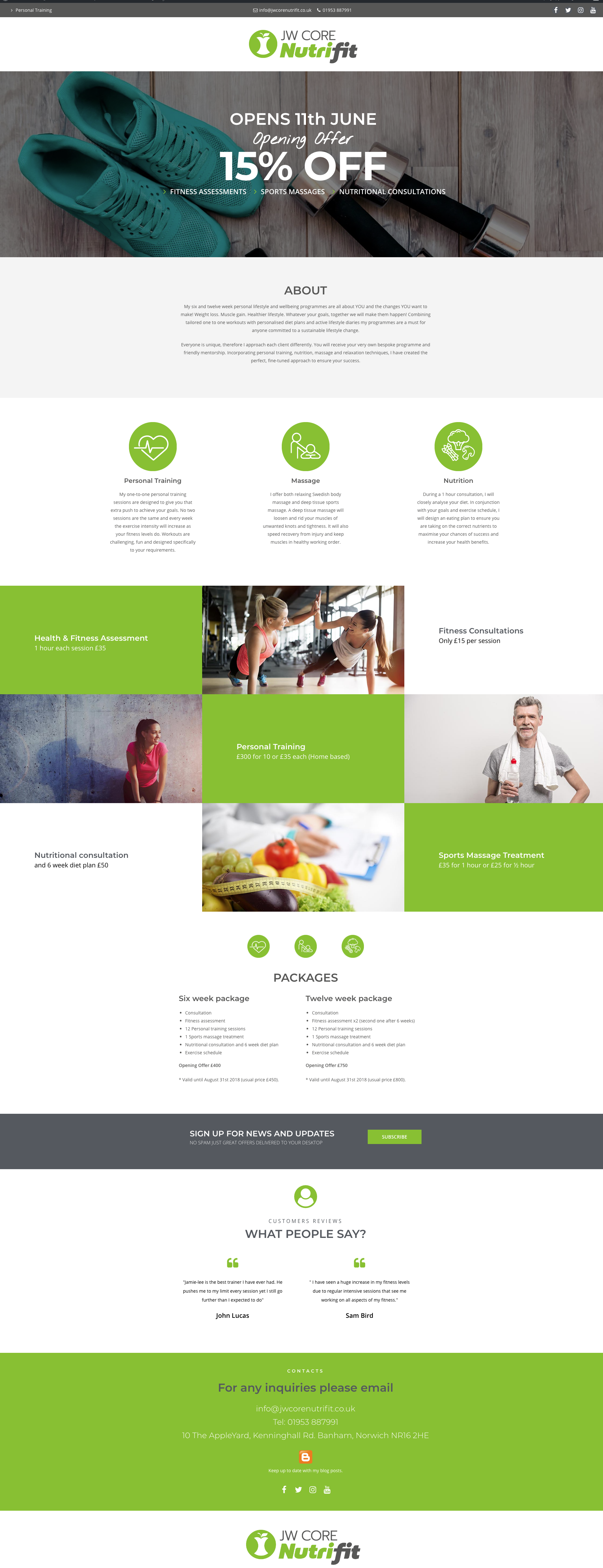 Wordpress Website For Jw Core Nutrifit Web Design Web Design Quotes App Design