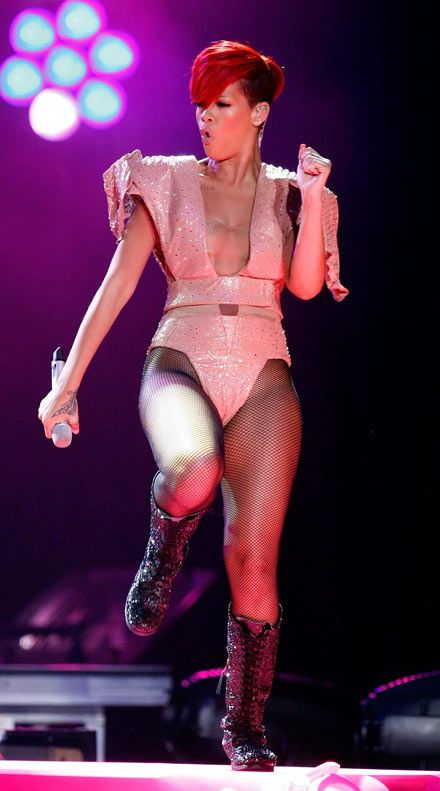 896487b2a Pink Shiny Lycra Leotard   Catsuit worn By Rihanna. Buy your Catsuit ...