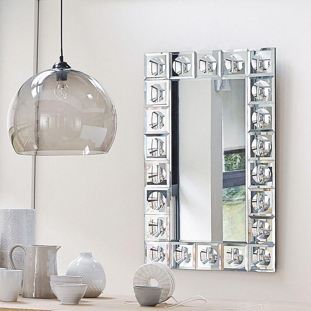 Miroir biseaut h 120 cm maisons du monde salle de bains pinterest miroir miroir - Miroir ovale sur pied ...