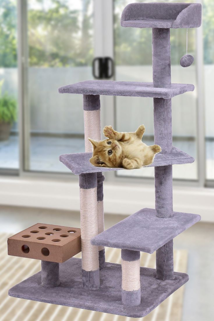 Superior Cat Tree Condo Furniture Scratching Post Kitten Tower Pet Play House Bed  Castle | Bearing Capacity, Cat Tree Condo And Condo Furniture