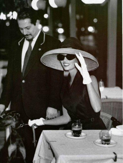 """Romaines Vacances"", L'Officiel France, 1995Photographer: Bruno BisangModel: Leticia Herrera"
