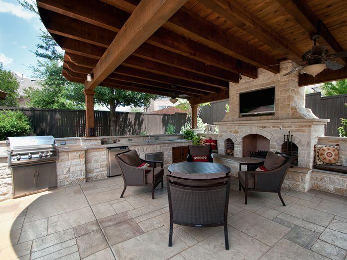 Dallas Landscape Architects Outdoor Kitchens Fireplaces Dallas Mckinney Richardson Decks Stamped Concrete Small Backyard Landscaping Patio Outdoor Kitchen Design