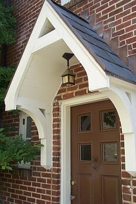Door Canopy Wooden Porch Awning Front Door Canopies love this