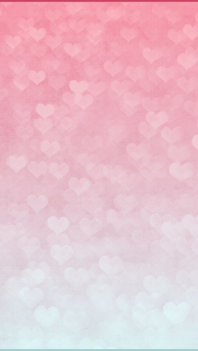 Pink White Heart Gradient Cute Wallpapers Watercolor Background Wallpaper