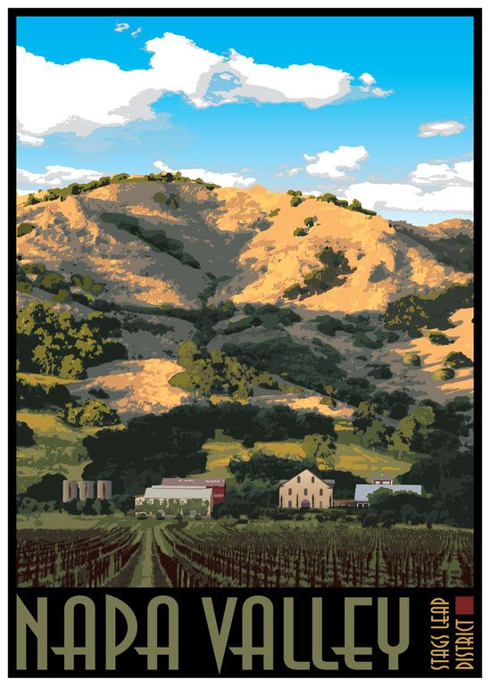 Napa Valley Poster - Regusci Vineyards Canvas Print | Travel