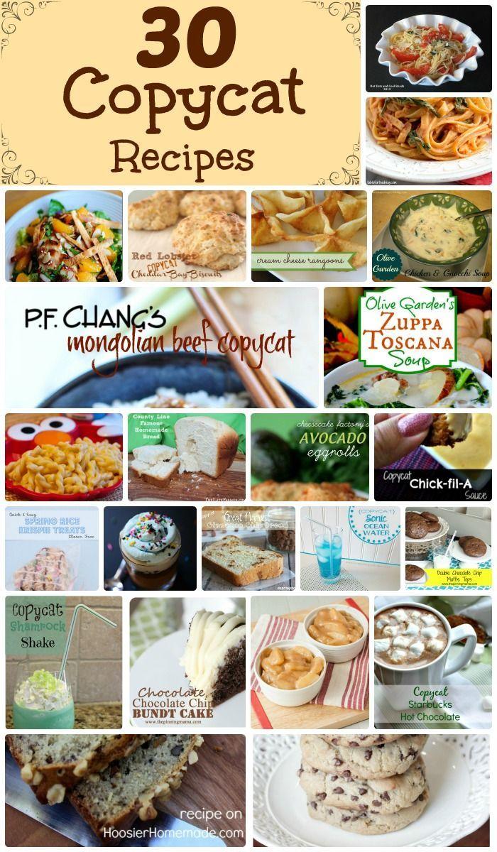 30 Delicious Copycat Recipes Copykat recipes, Food