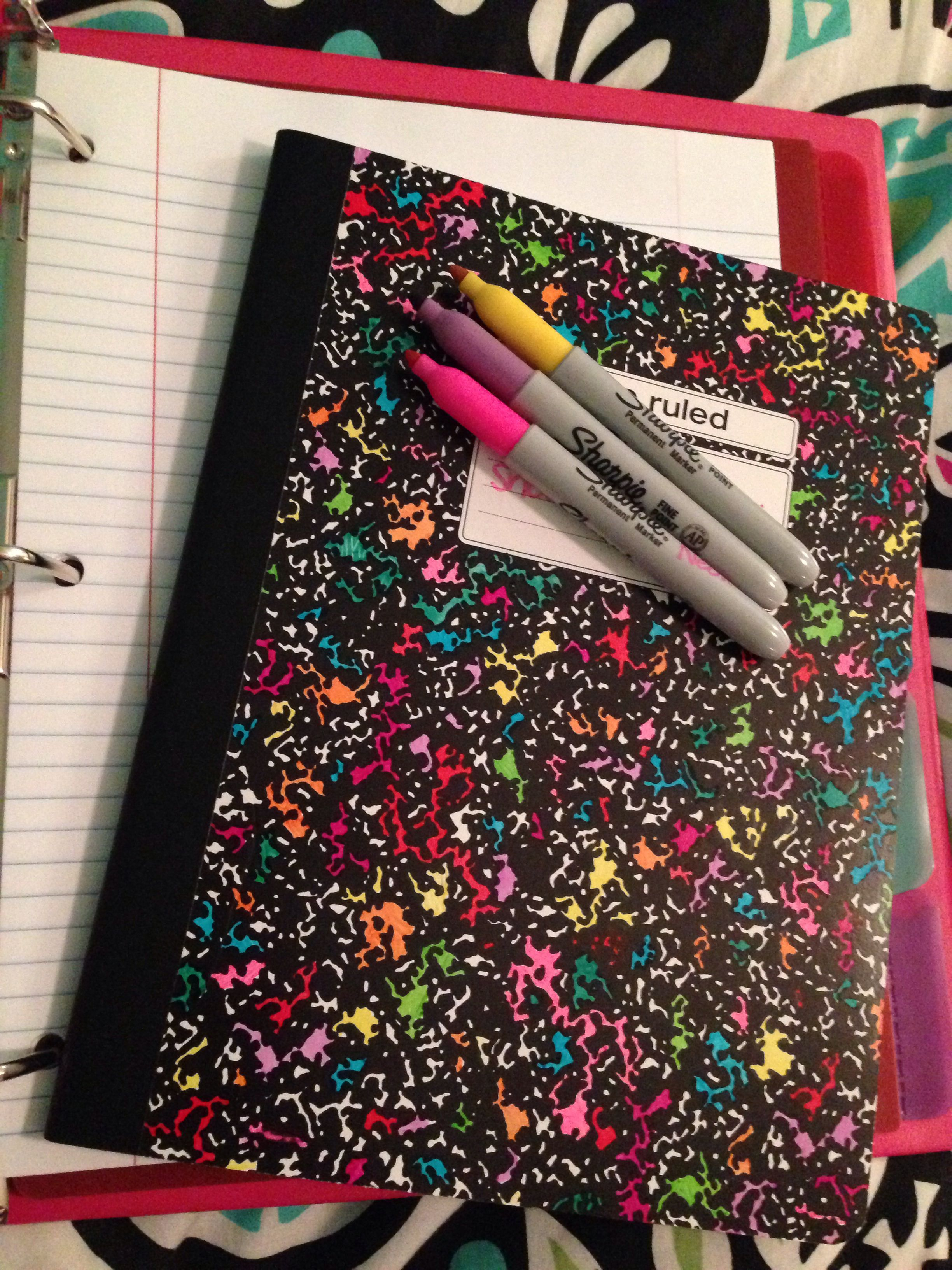 Decorate Composition Notebook With Sharpie School Composition