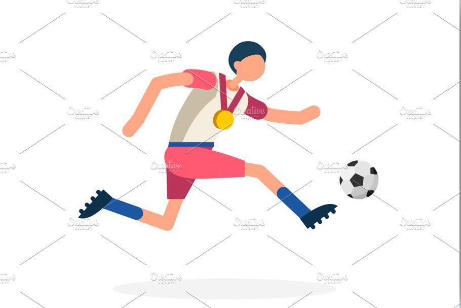 Striker Footballer Symbol Football In 2020 Football Striker Illustration