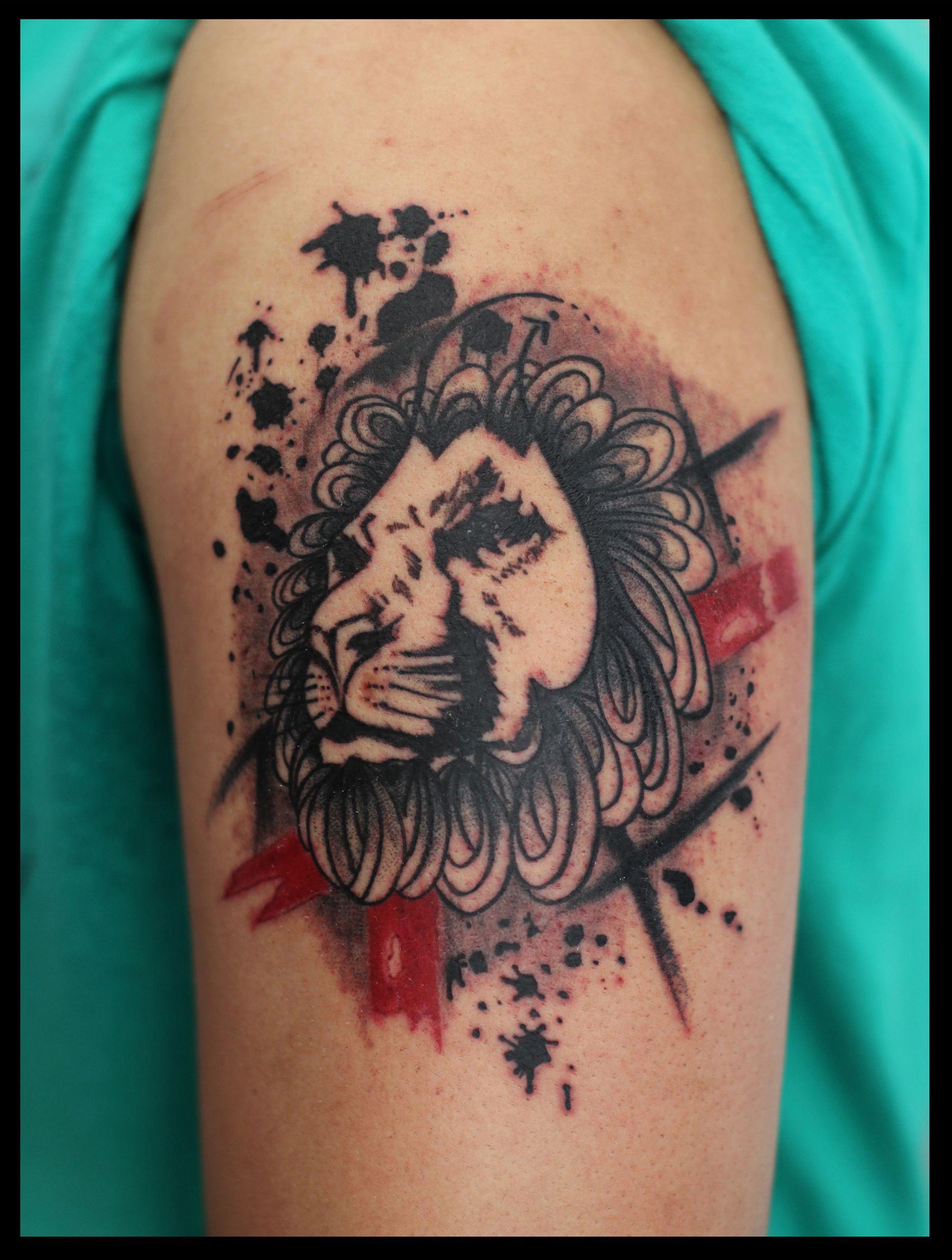af9258713e35a Polka Trash Lion Tattoo | आजमाने लायक परियोजनाएँ ...