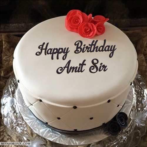 Happy Birthday Amit Bhaiya Cake Image