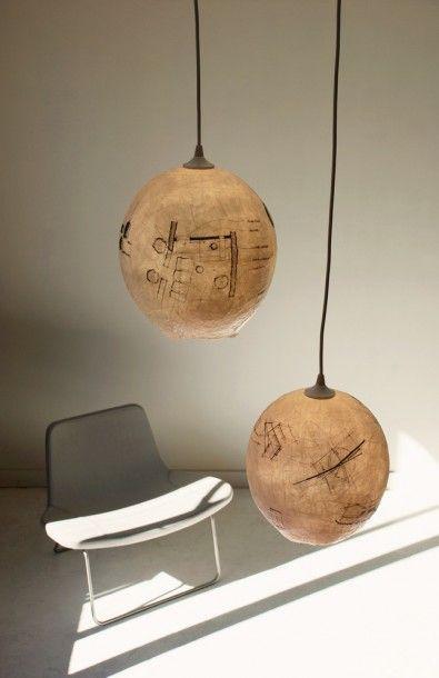 Graypants Uses Bumwad To Make Masterful Sketchlight Pendant Lamps Met Afbeeldingen