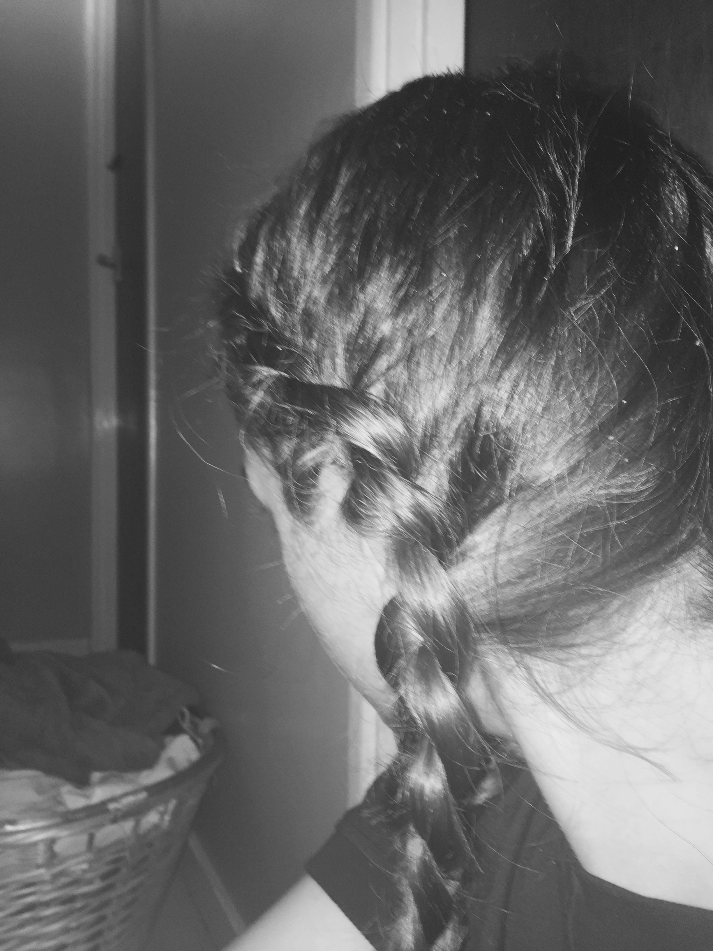 This is a quick and easy hairstyle to do on yourself mine