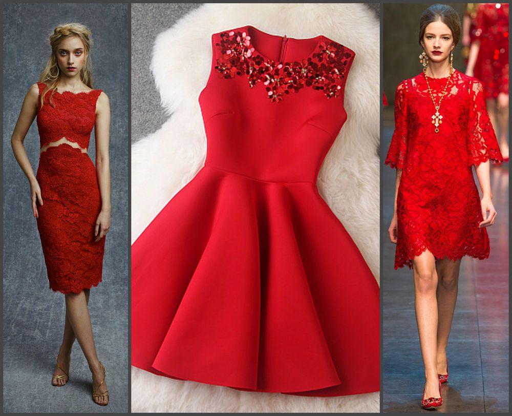 d1917297331 Встречаем Новый год в красном платье - Ярмарка Мастеров - ручная работа