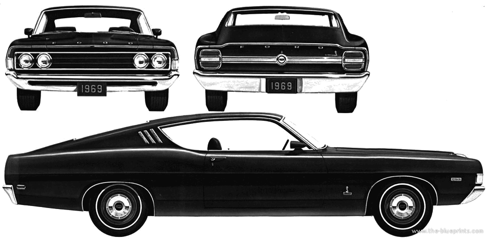 Ford Gran Torino Blueprints   Google Search