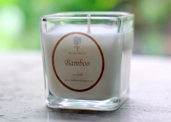 Bamboo Soy Candle  7 oz Zen Collection 100 by HiddenAcresSoapCo, $9.00