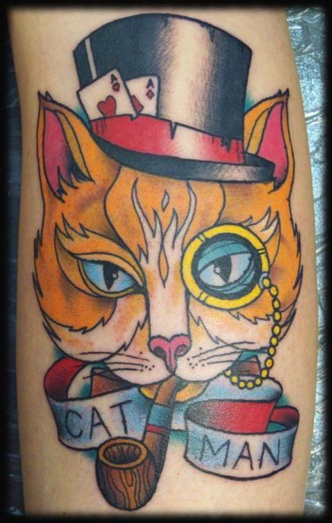 Hubby Wants A Tattoo Of Camino Like This Cat Tattoo Weird Tattoos Dog Tattoos