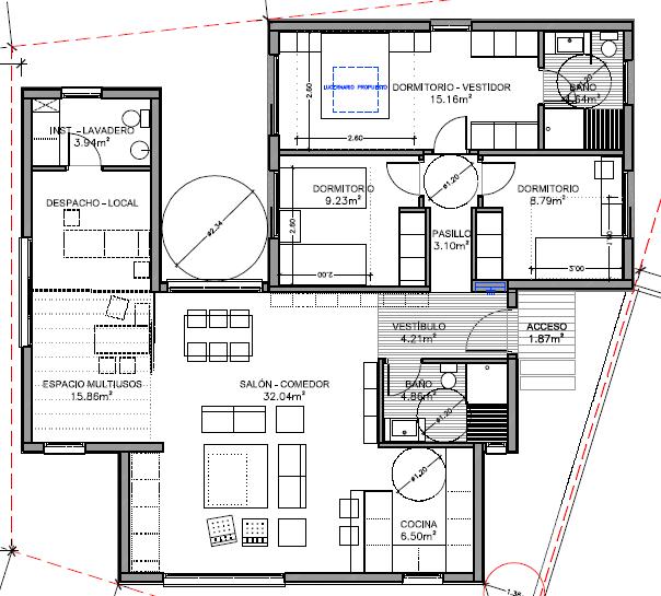 Modelo de casa prefabricada de 126 m2 construidos for Disenos y planos de casas prefabricadas