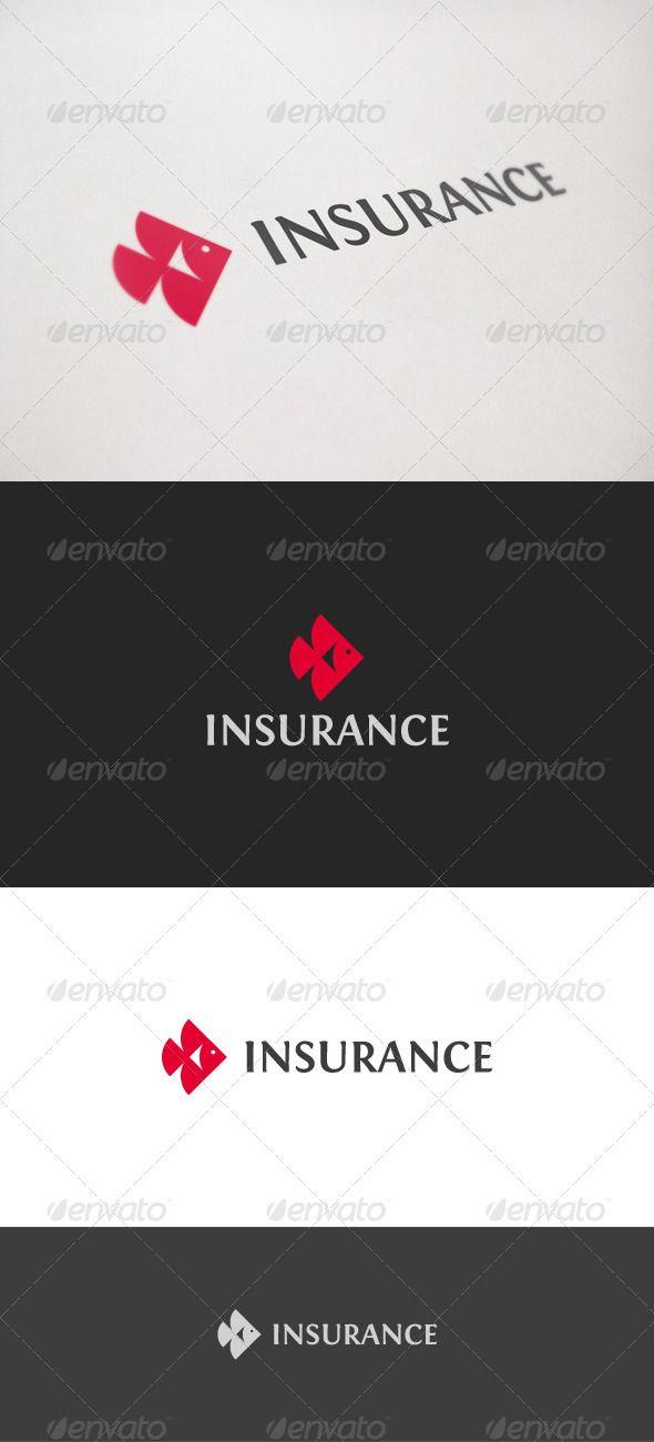 Insurance Fish Pet Logo Design Simple Logo Design Fish Vector