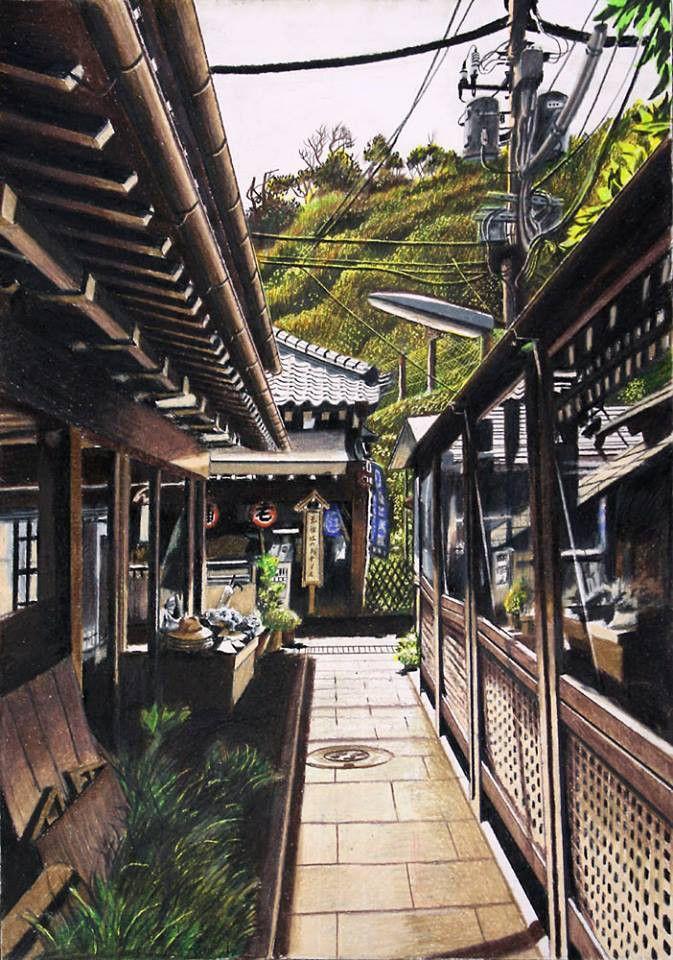 まるで写真みたい 色鉛筆画家の林亮太さんが描く感動的なイラスト23選 アニメの風景 色鉛筆 色鉛筆 イラスト