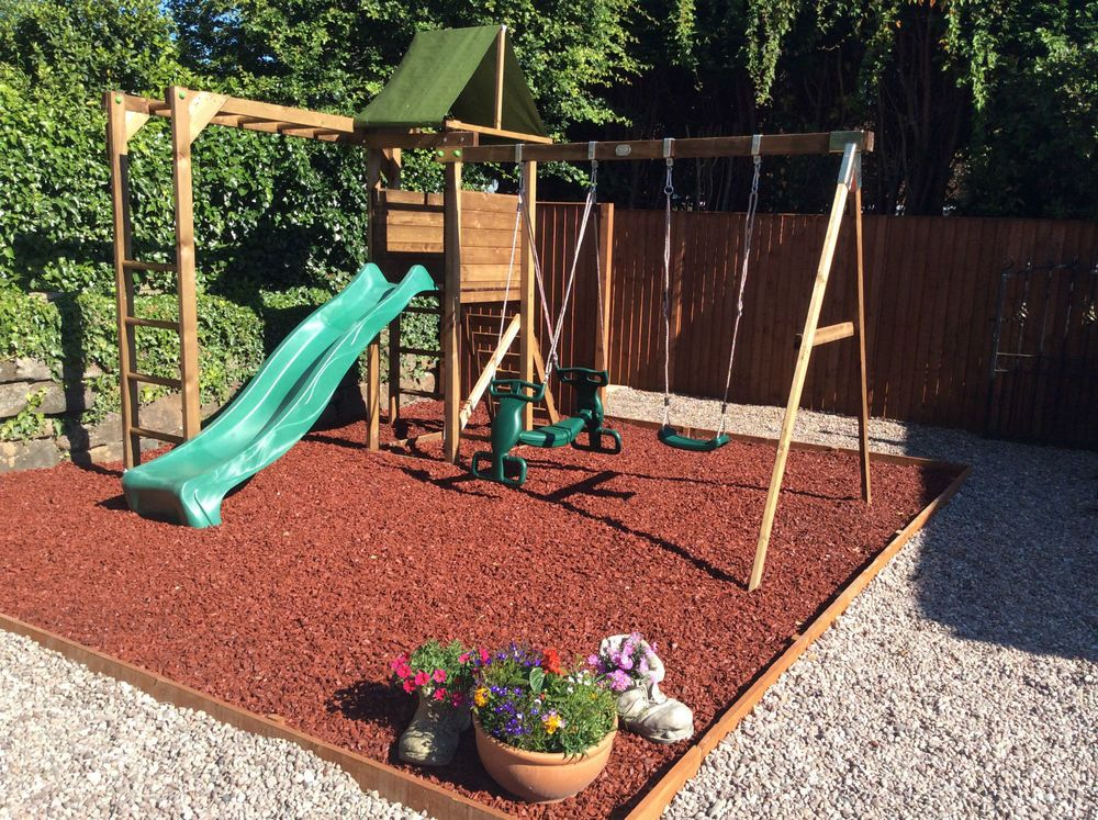 details about rubber play bark chippings for play area