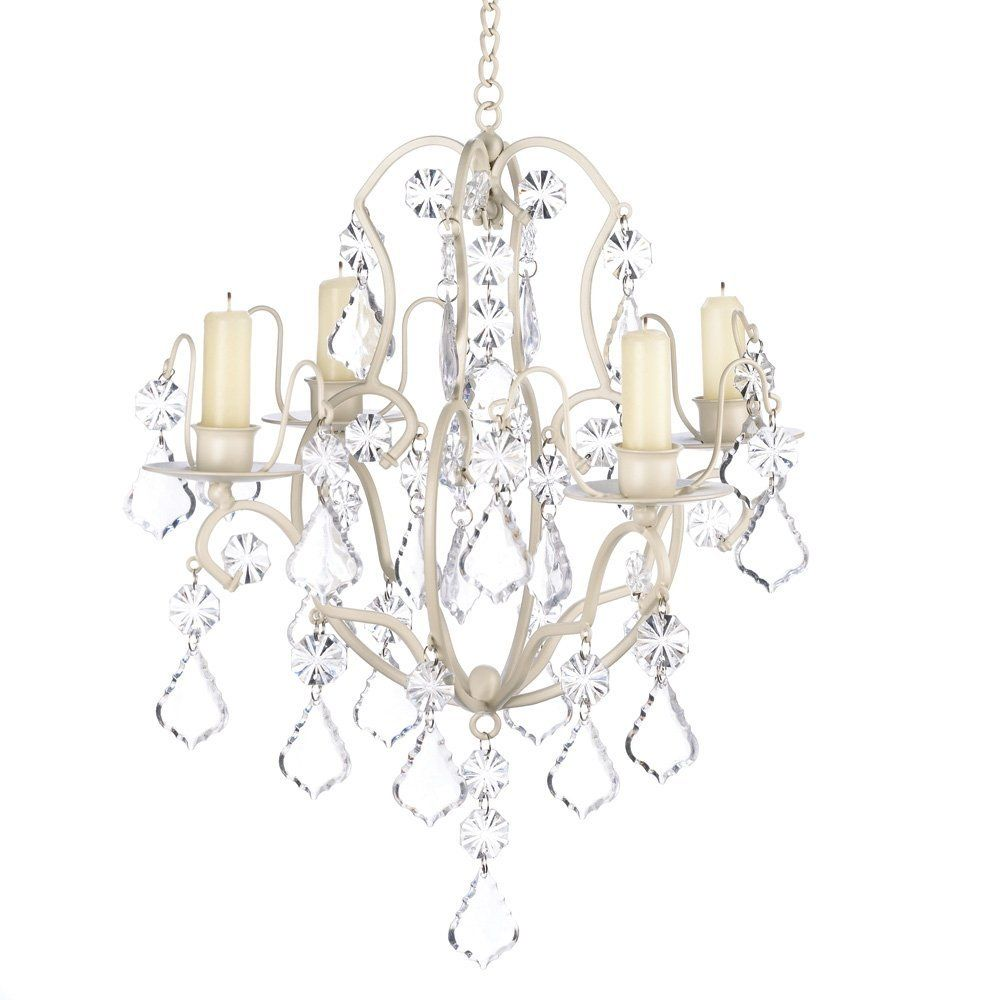 Amazon gifts decor ivory baroque candle chandelier iron and amazon gifts decor ivory baroque candle chandelier iron and acrylic aloadofball