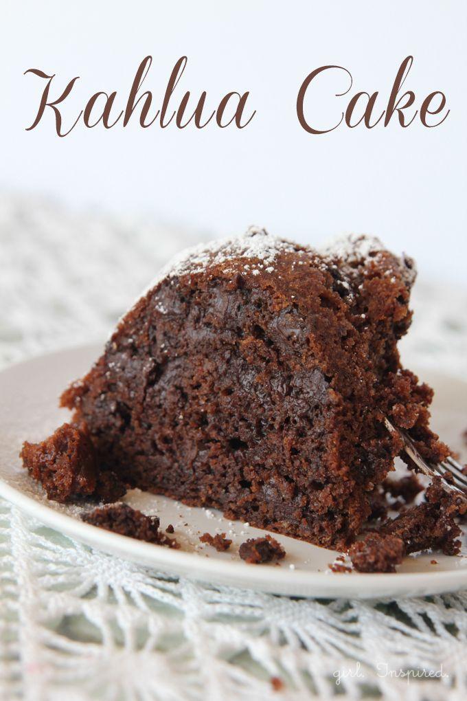 Recipes Archives Girl Inspired Kahlua Cake Moist Chocolate Cake Desserts