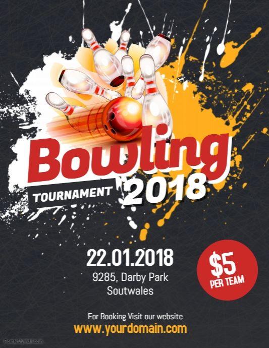 Bowling Tournament Flyer Poster D E S I G N Marketing