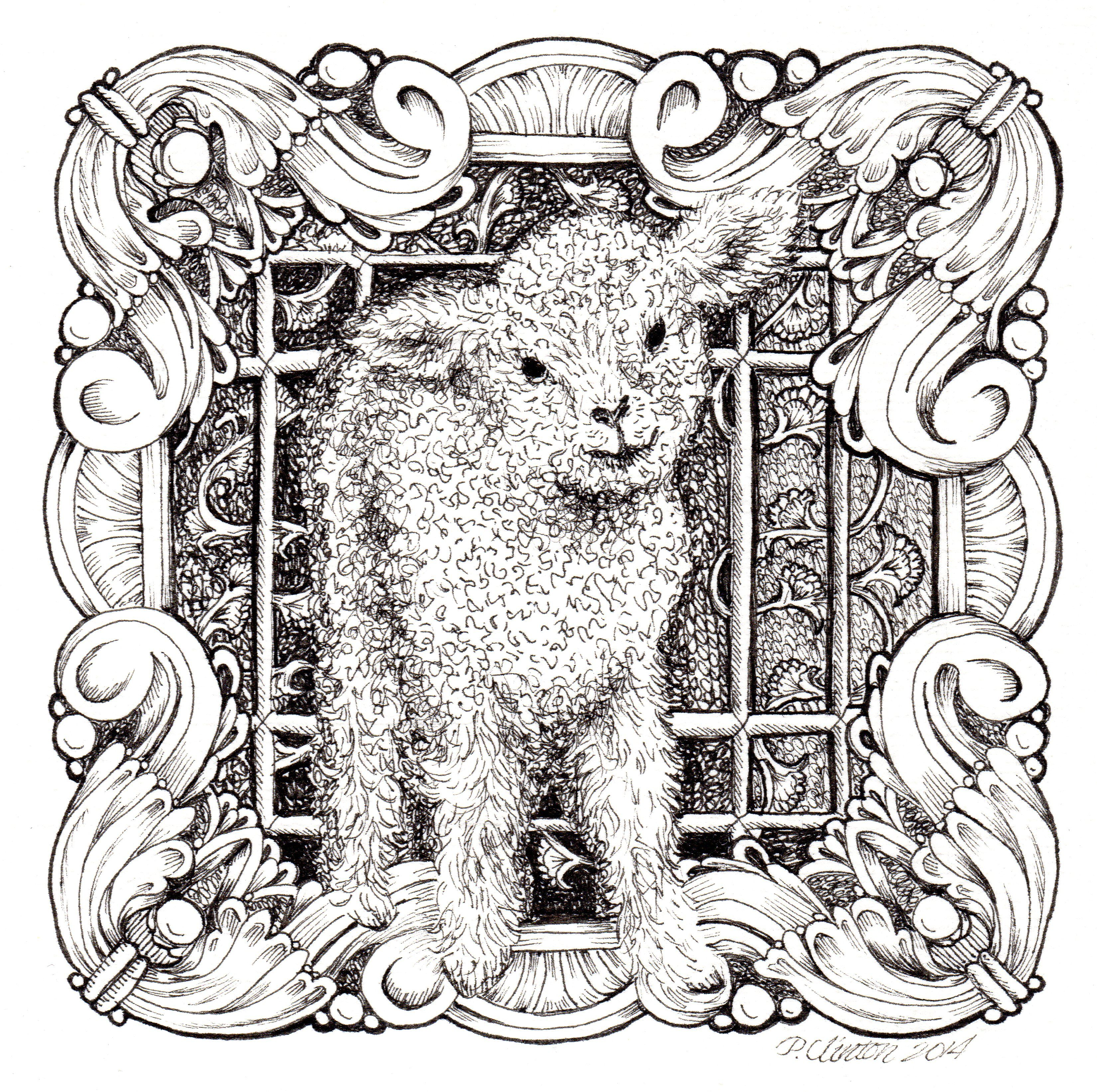Printable Adult Coloring Pages Lion And Lamb