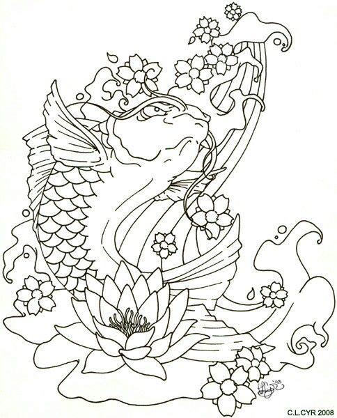 Koi fish tattoo | Tats | Pinterest | Arte, Koi and Dibujos