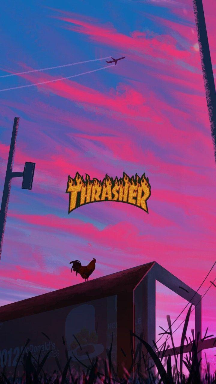 Thrasher em 2020 Papel de parede hippie, Imagem de fundo