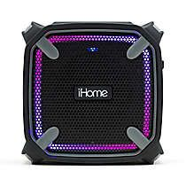 iHome Weather Tough Portable Rechargeable Bluetooth Speaker in Black
