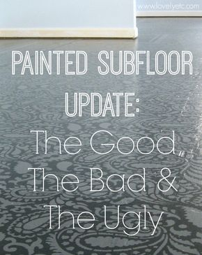 Painted Plywood Floor Update The Good Bad And Ugly