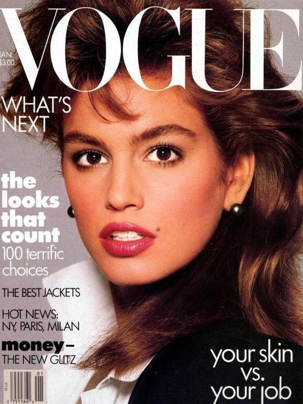 Vogue Usa Magazine Subscription: Vogue USA - Cindy Crawford - January 1987
