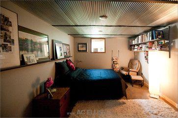 corrugated metal ceiling in bedroom | Houzz - Home Design ... on decorating bedroom walls, master bedroom ceilings, painting bedroom ceilings, decorating bedroom shelves, decorating bedroom furniture, diy bedroom ceilings,