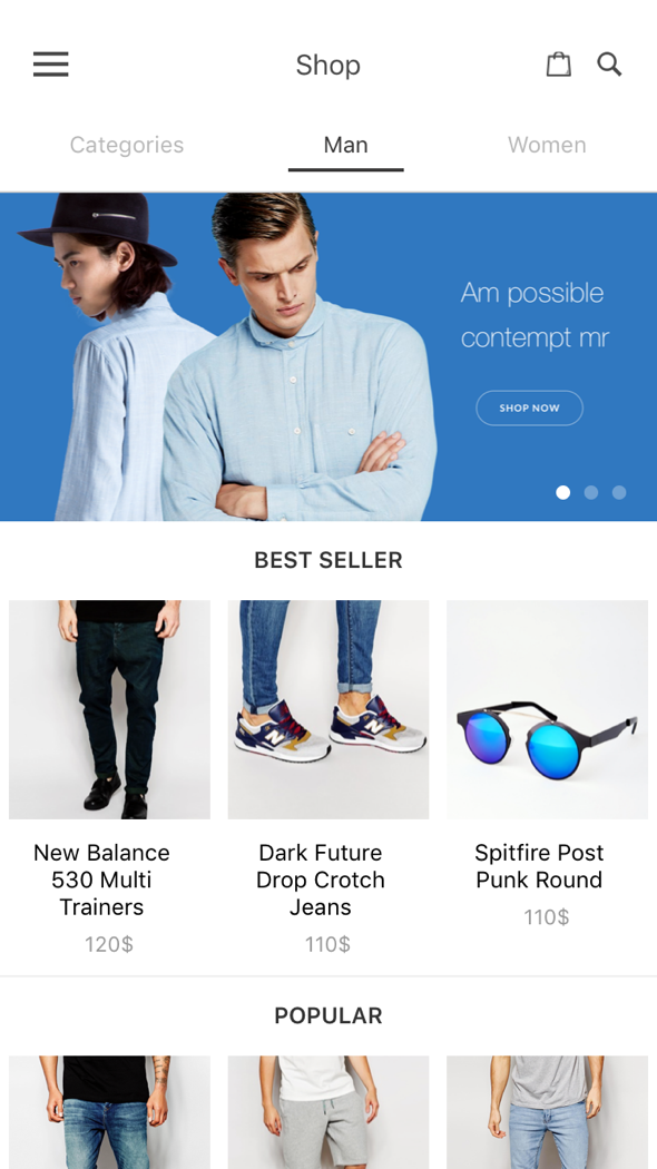 BeoStore - Complete React Native template for e-commerce | Template