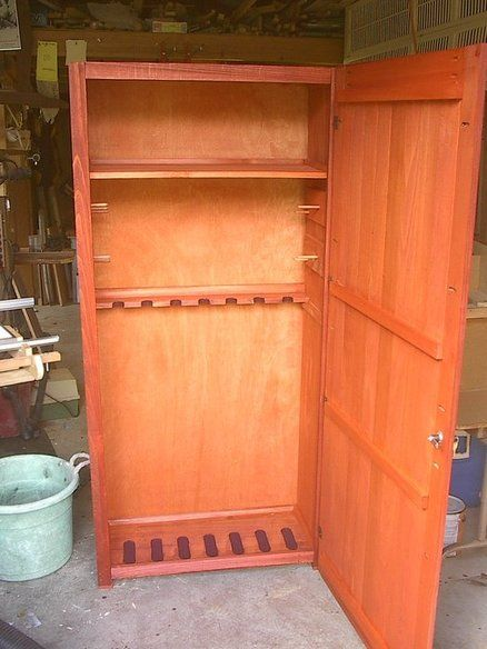 Sandpaper you can make this diy gun cabinet it works great safe with just some scrap wood diy for Wardrobe cabinet design woodworking plans