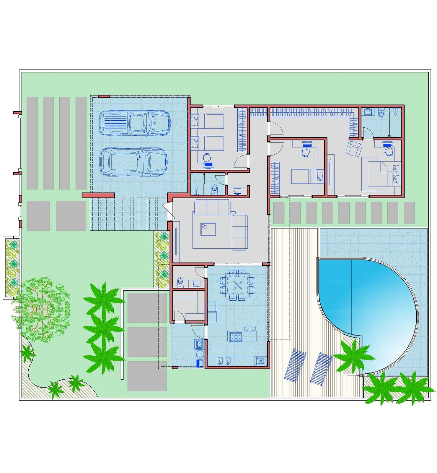 Arquiteto natan fontes casa t rrea simone casas for Modificaciones de casas pequenas