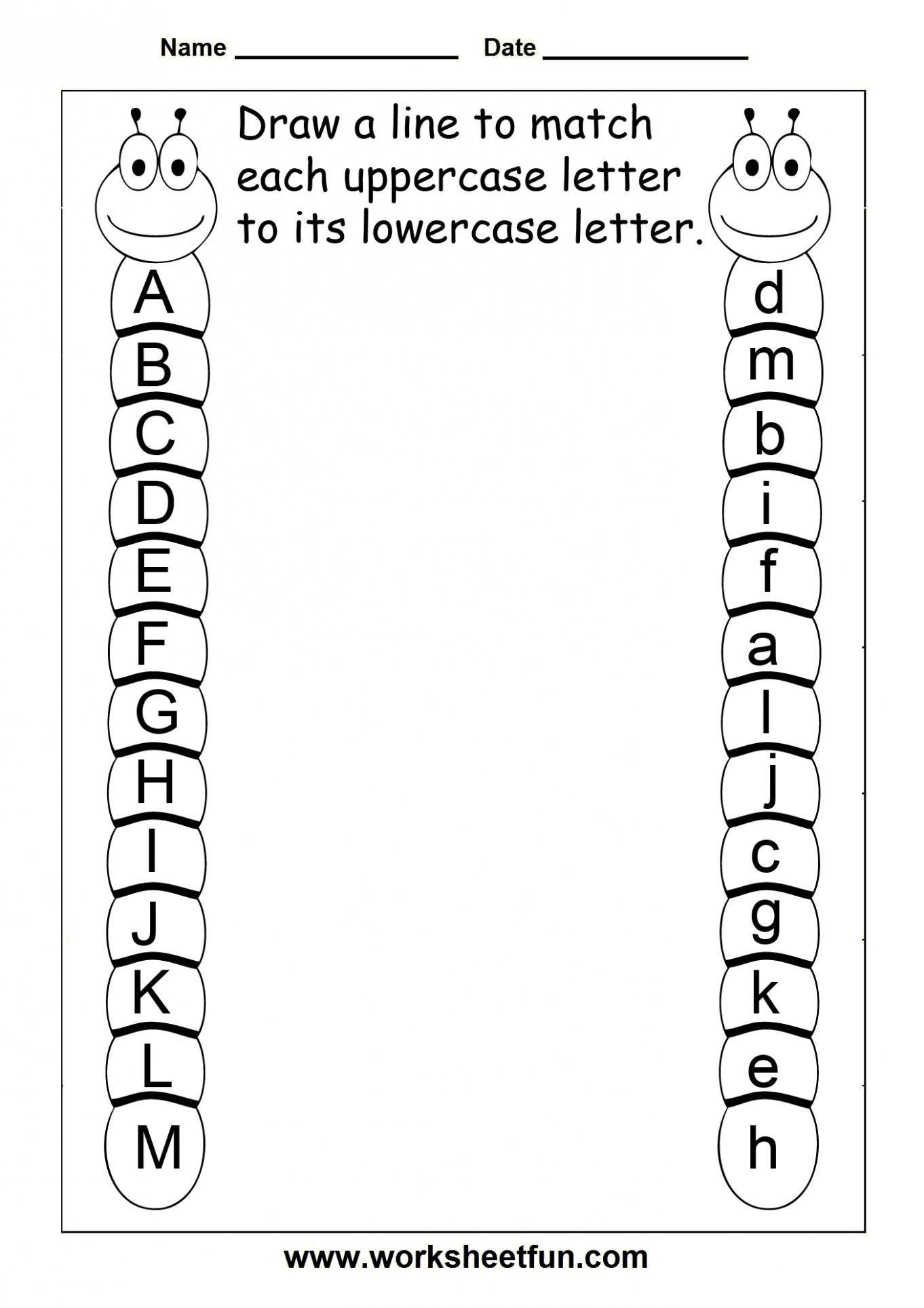 8 Alphabet Recognition Worksheets For Kindergarten In