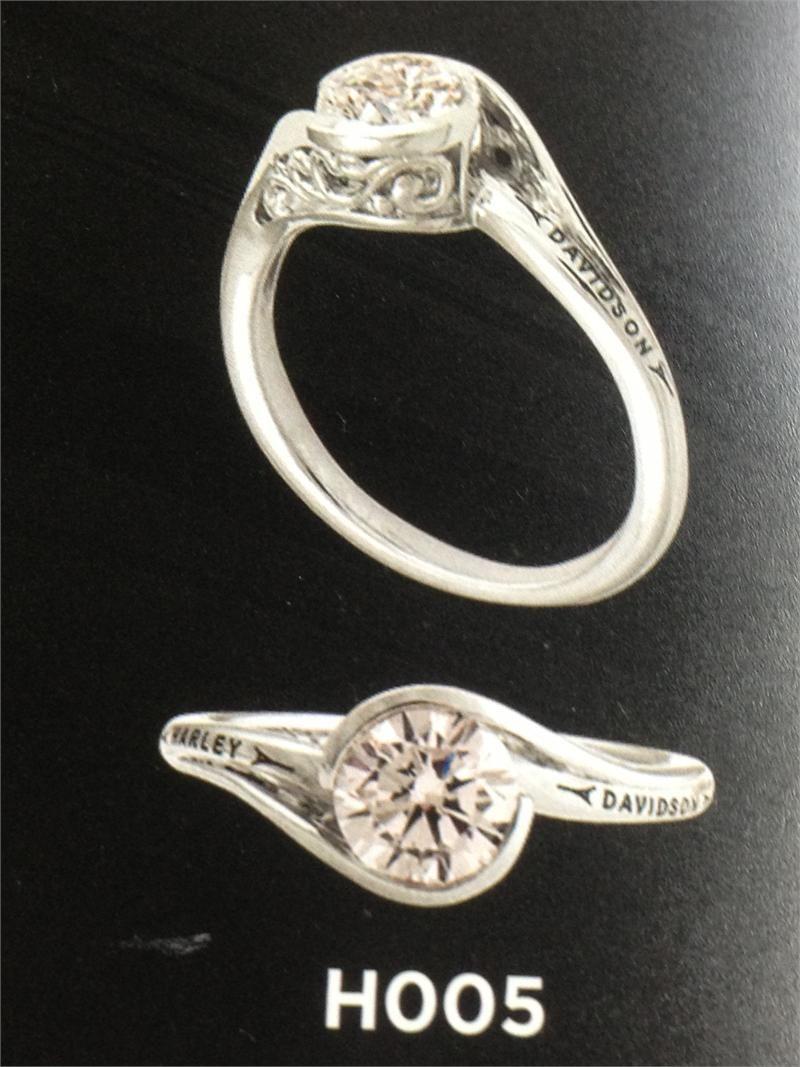 Harley Davidson Diamond Ring : harley, davidson, diamond, Harley, Davidson, Attire, Women, Harley-Davidson, Women's, Vintage, Bypass, Engagement, Quarter, Ca…, Jewelry,, Women,