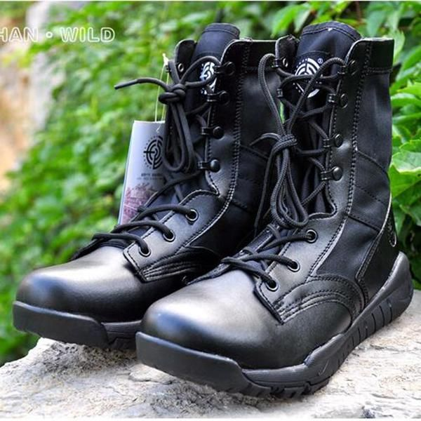 5b0551e74bb Summer Military Tactical Boot For Men Breathable Oxford light Soft Desert  Combat Shoes Men s Army Ankle Boot