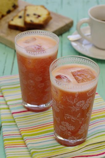 Sumo de laranja com melancia