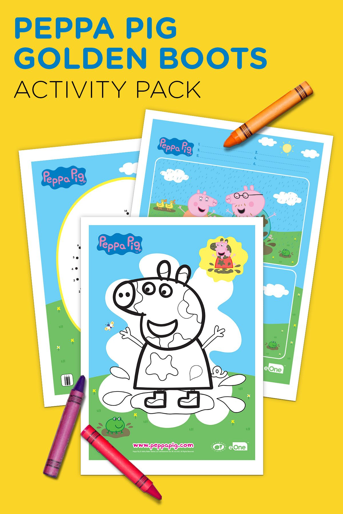 Peppa Pig Golden Boots Activity Pack With Images