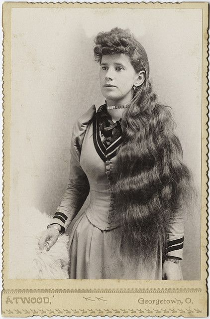 cabinet card portrait of long-haired