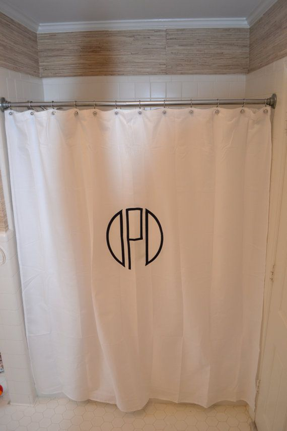 Custom Monogrammed Shower Curtain Decor Home Decor Room Decor